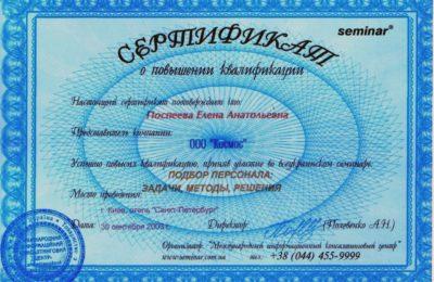 Елена Поспеева, Бизнес класс
